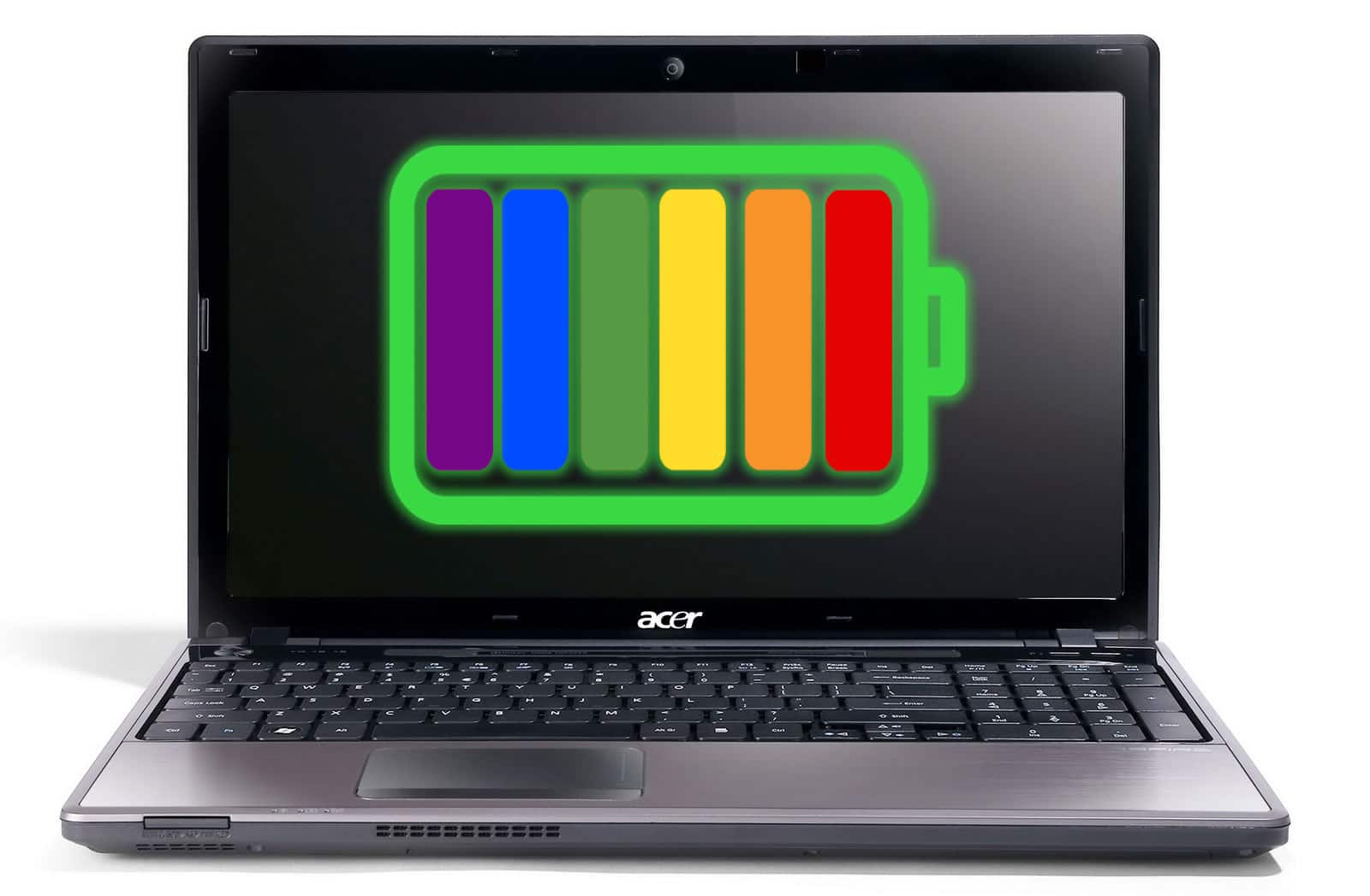 laptop with lgbt flag battery